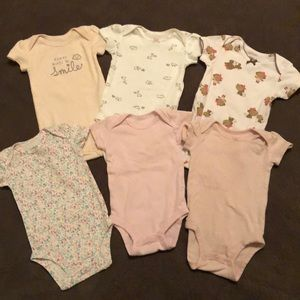 Baby girl short sleeve onesie set (6pieces)